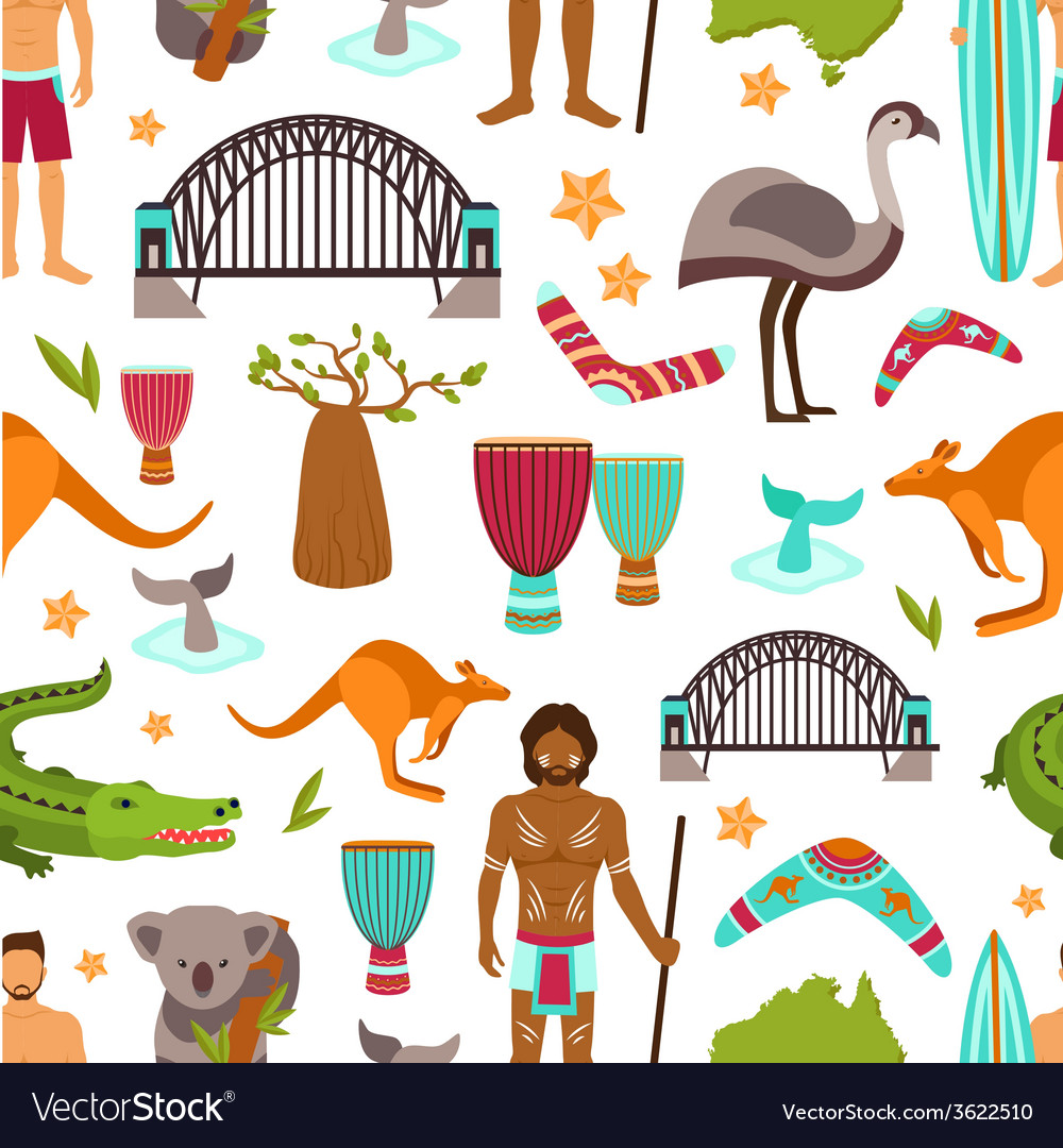 Australia Seamless Pattern vector image