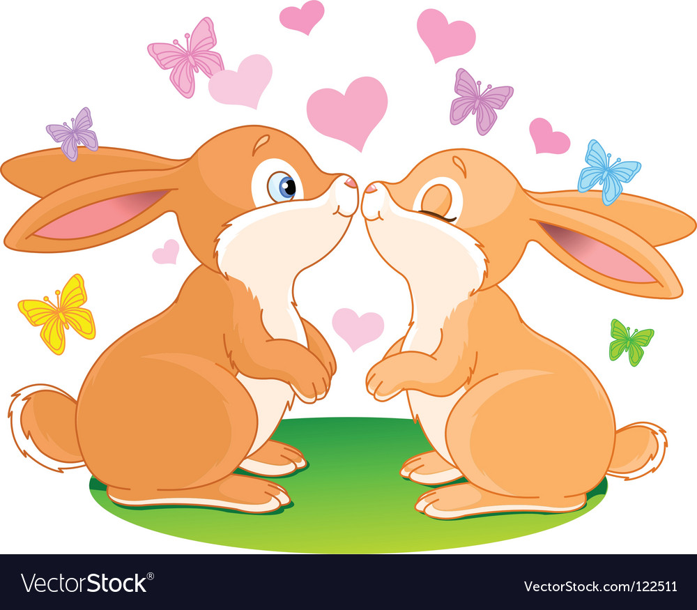 Cartoon bunnies vector image