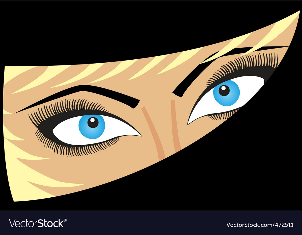 Female eyes vector image