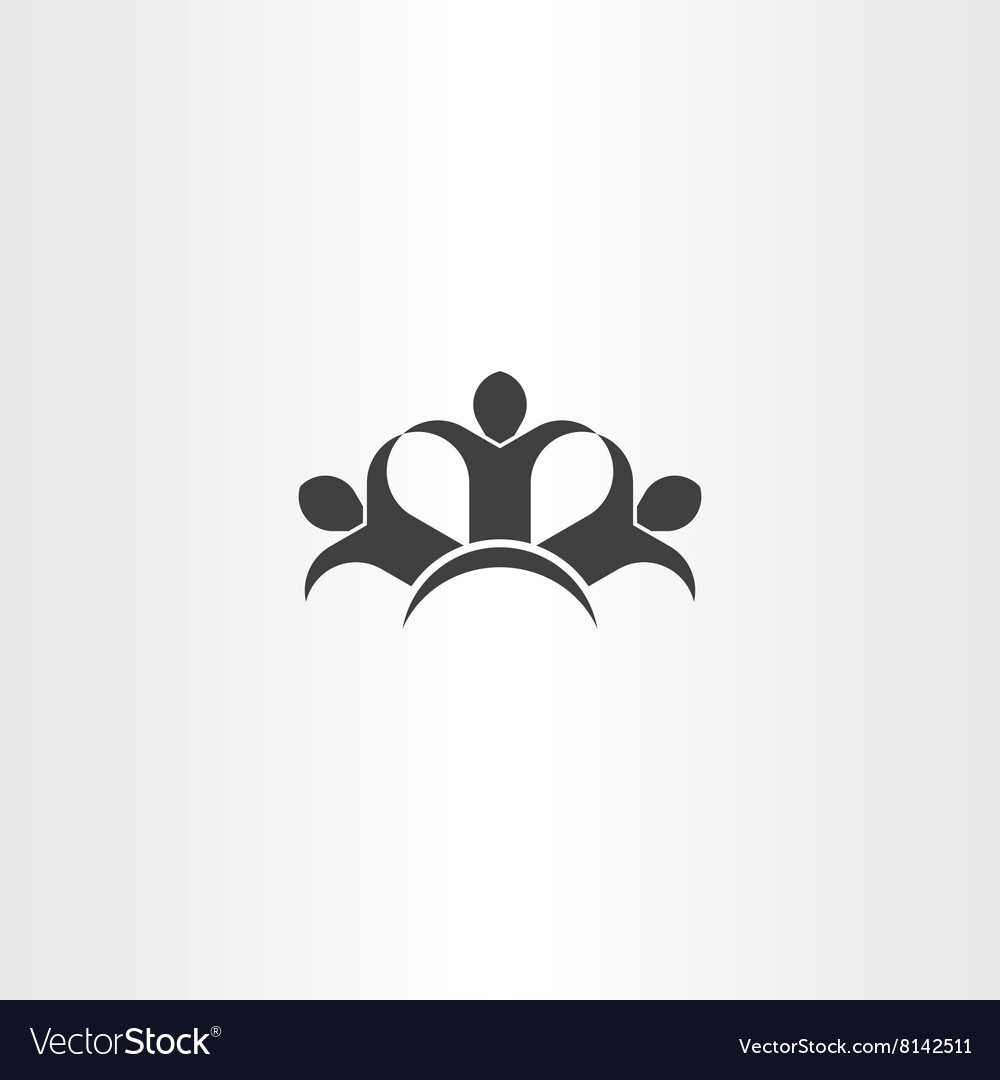 People holding hands friends icon black symbol vector image