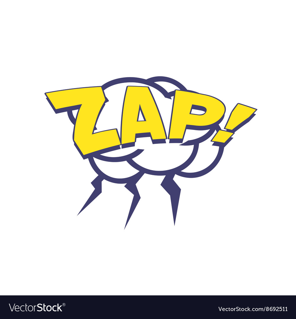 Zap With Lightnings Comic Speech Bubble vector image