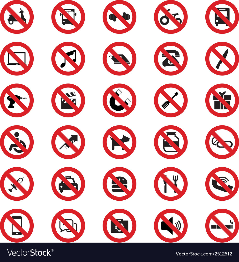 Prohibited sign vector image