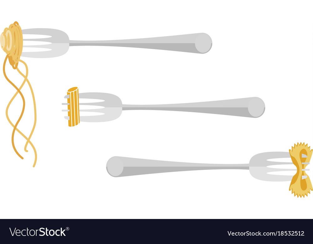 Template of italian spaghetti vector image