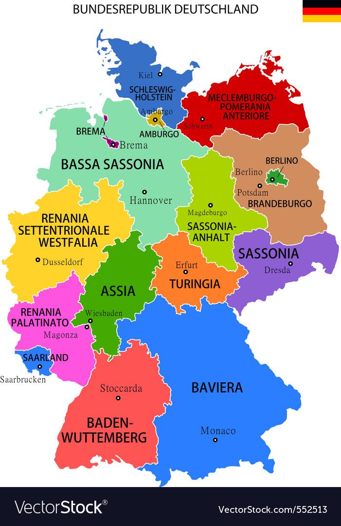 Germany map Royalty Free Vector Image VectorStock