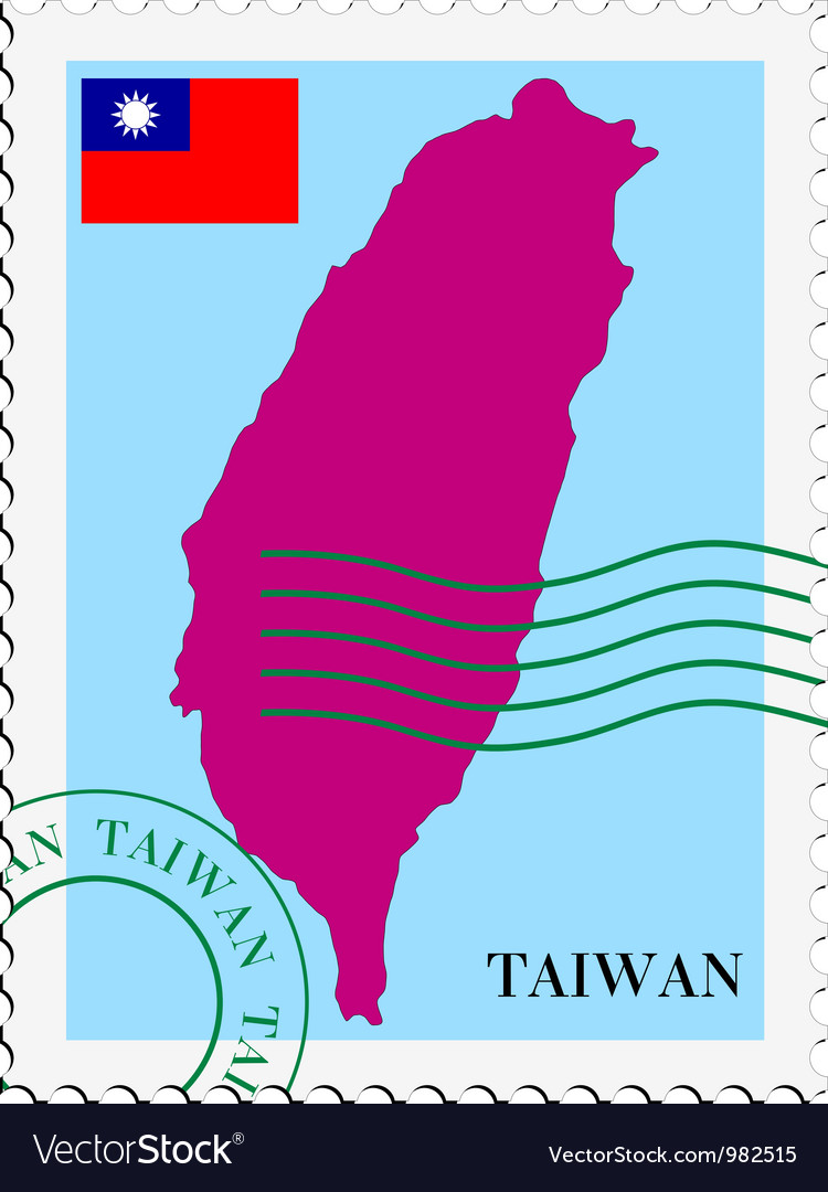 Mail to-from Taiwan vector image