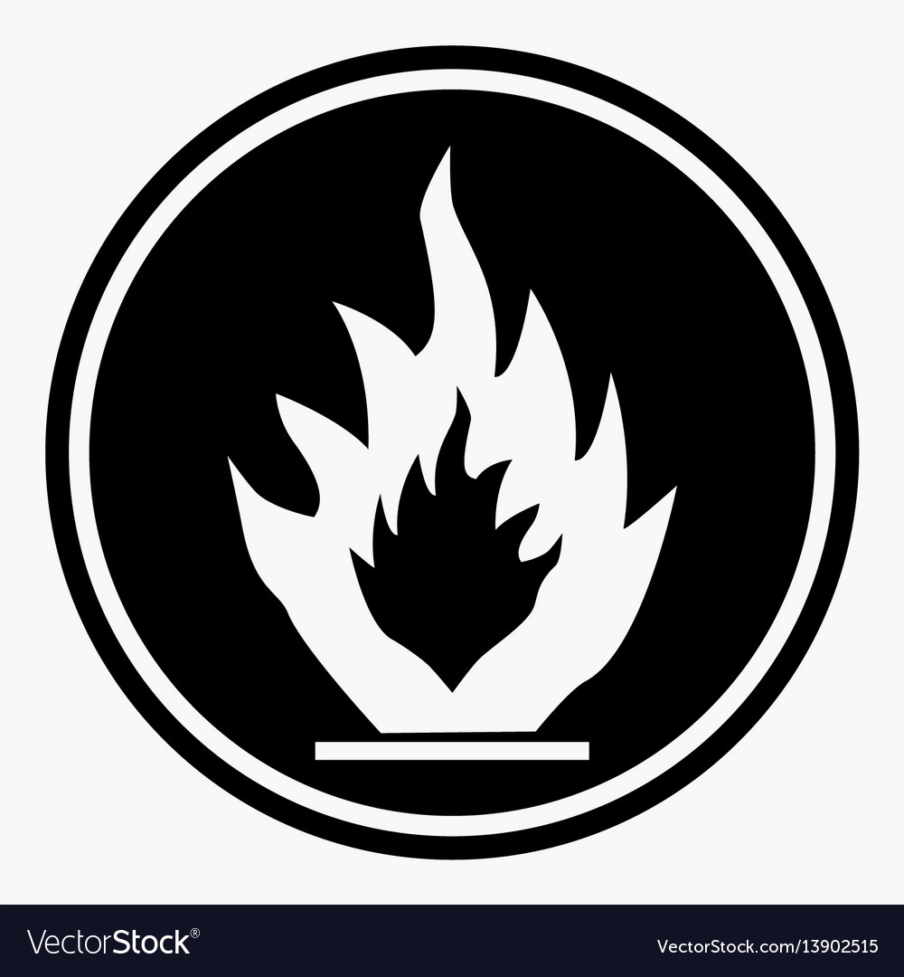 Flammable caution sign fire isolated danger vector image flammable caution sign fire isolated danger vector image buycottarizona