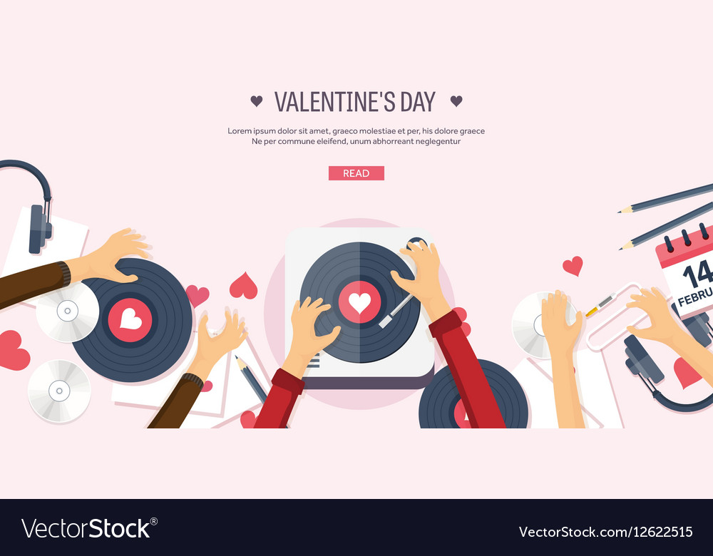 Flat musical background with vector image