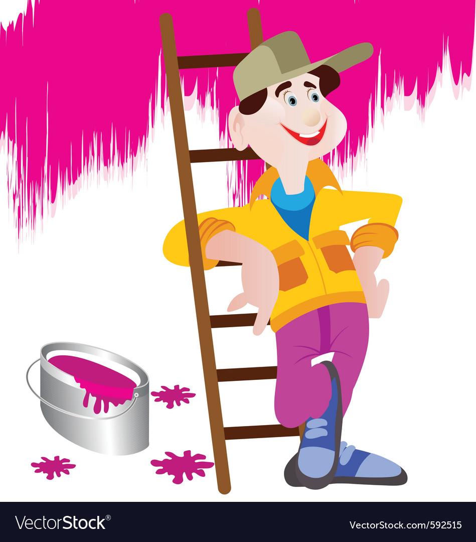 handyman cartoon royalty free vector image vectorstock
