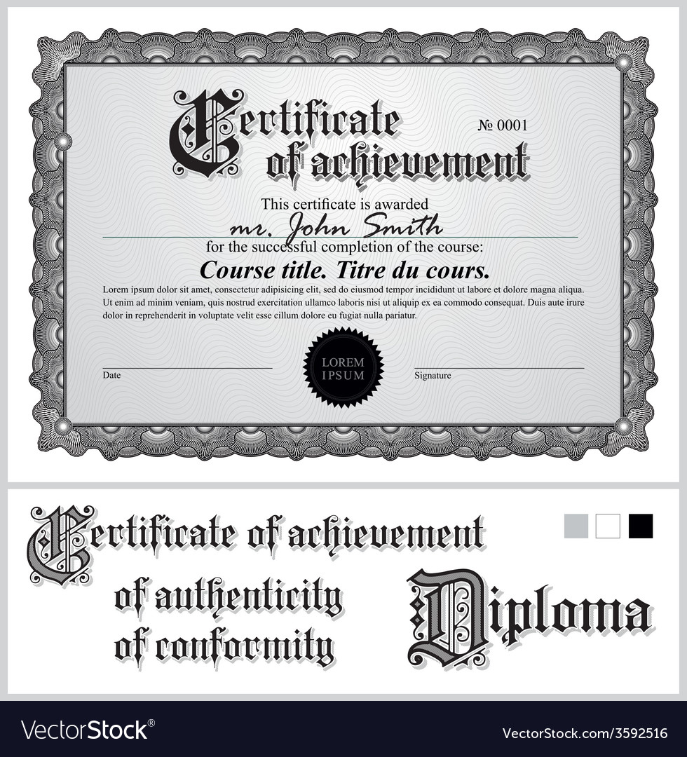 Black and white certificate template horizontal vector image black and white certificate template horizontal vector image yadclub Choice Image
