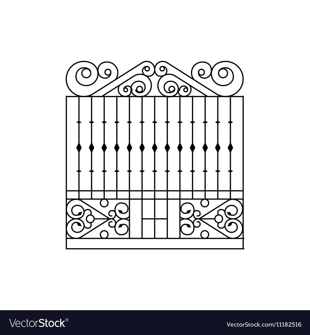 Metal grid fencing design royalty free vector image metal grid fencing design vector image workwithnaturefo