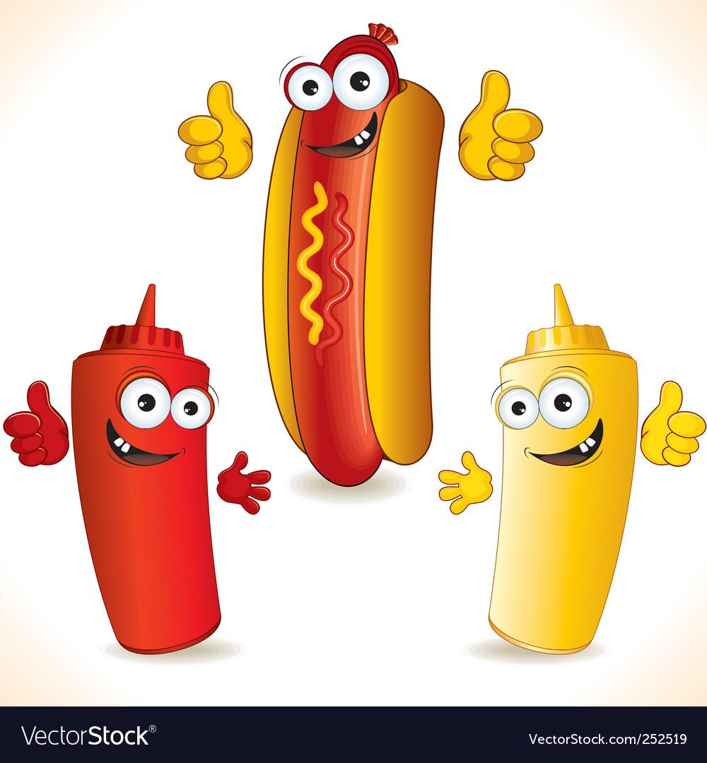 Hotdogs vector image