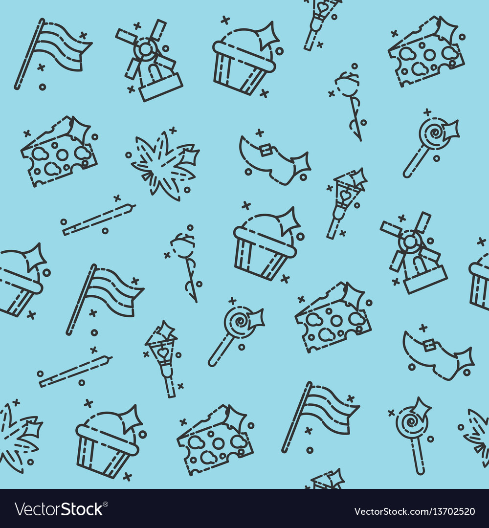 Netherland icons design pattern vector image