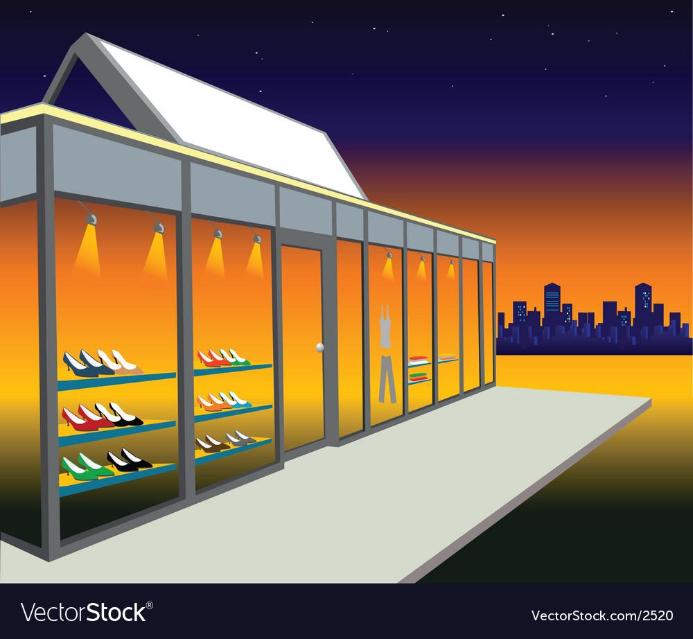 Shoe shop vector image