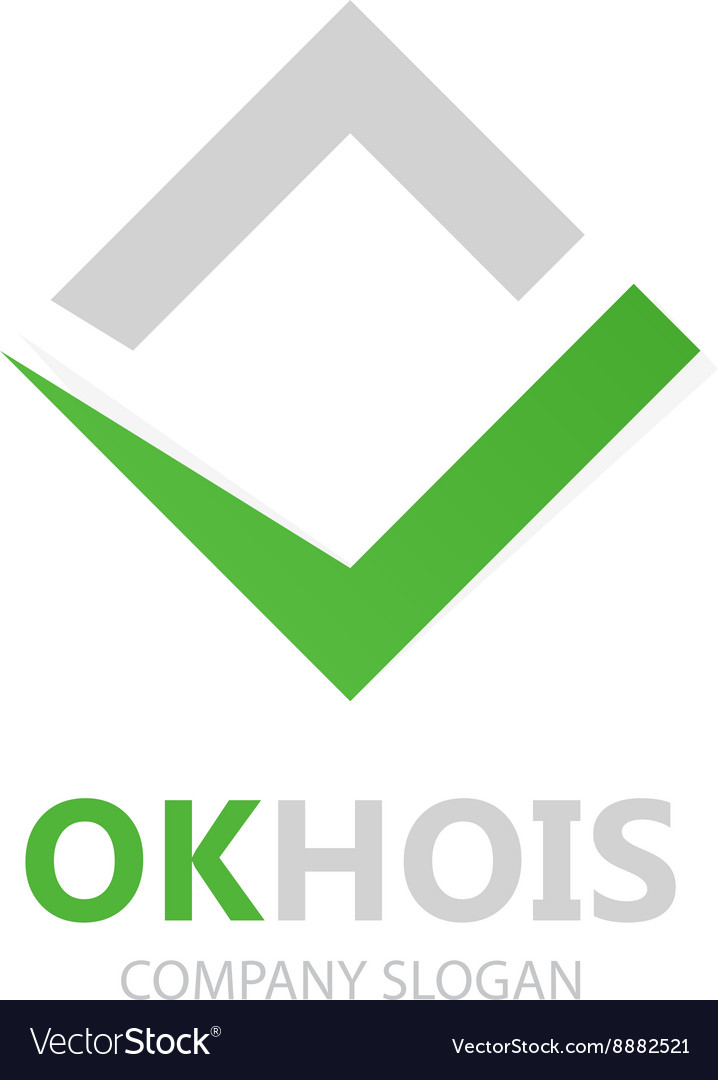 Check mark logo Ok logo design Yes logo vector image