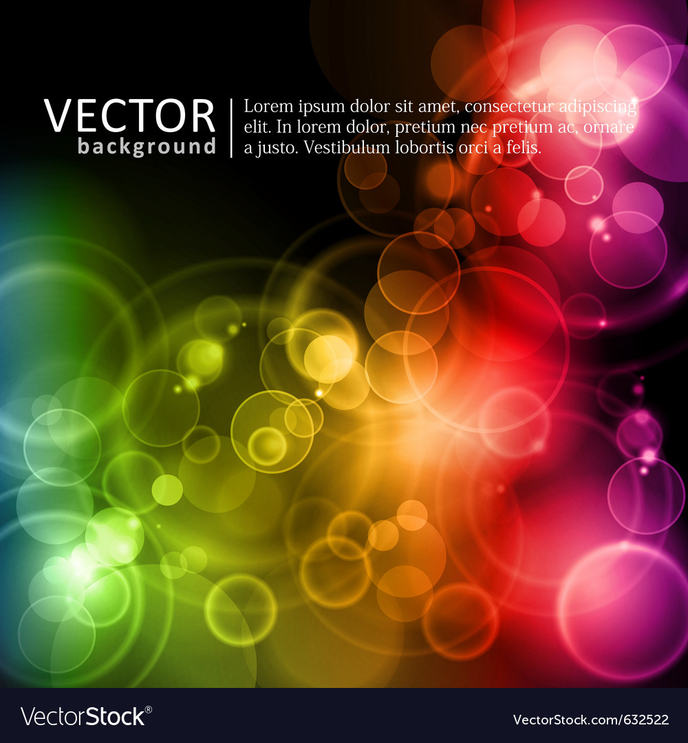 Magic lights in rainbow colors vector image