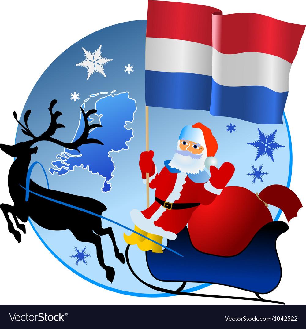 merry christmas netherlands royalty free vector image. Black Bedroom Furniture Sets. Home Design Ideas