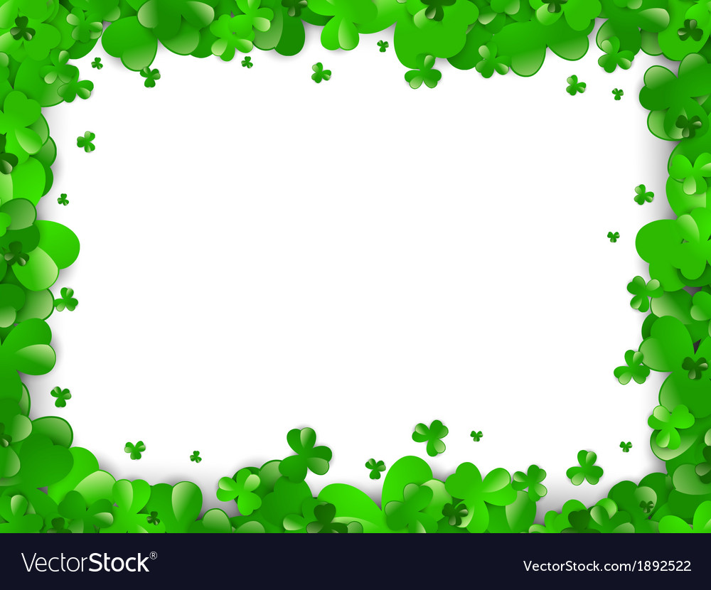 saint patrick day frame royalty free vector image