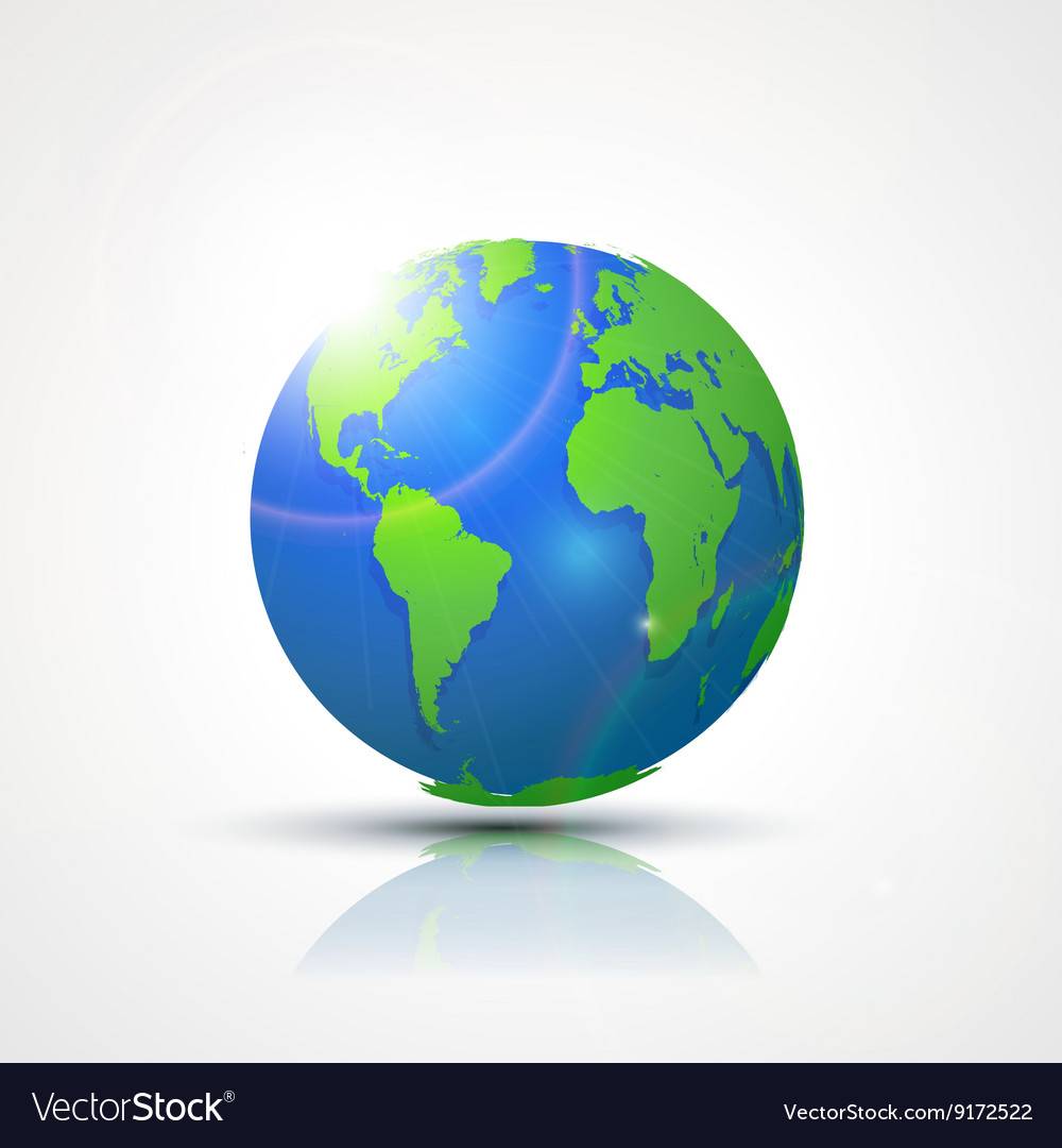World globe map america africa and europe vector image world globe map america africa and europe vector image gumiabroncs
