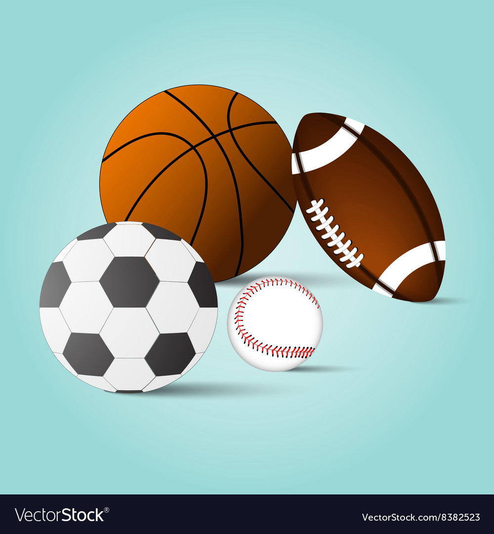 Balls set background vector image
