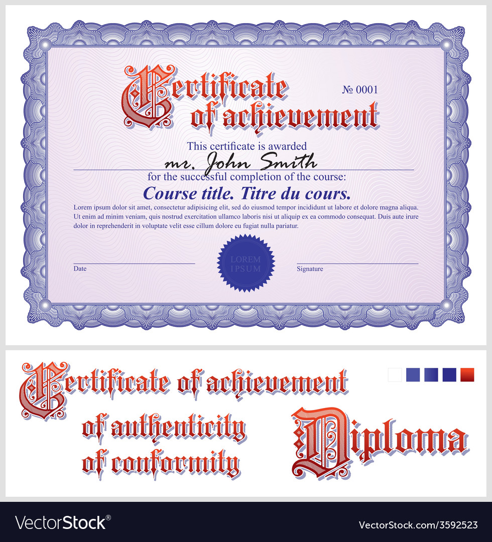 Blue certificate template horizontal royalty free vector blue certificate template horizontal vector image xflitez Images