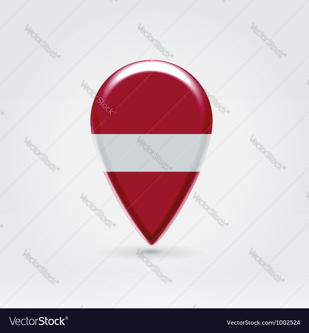 Latvian icon point for map vector image