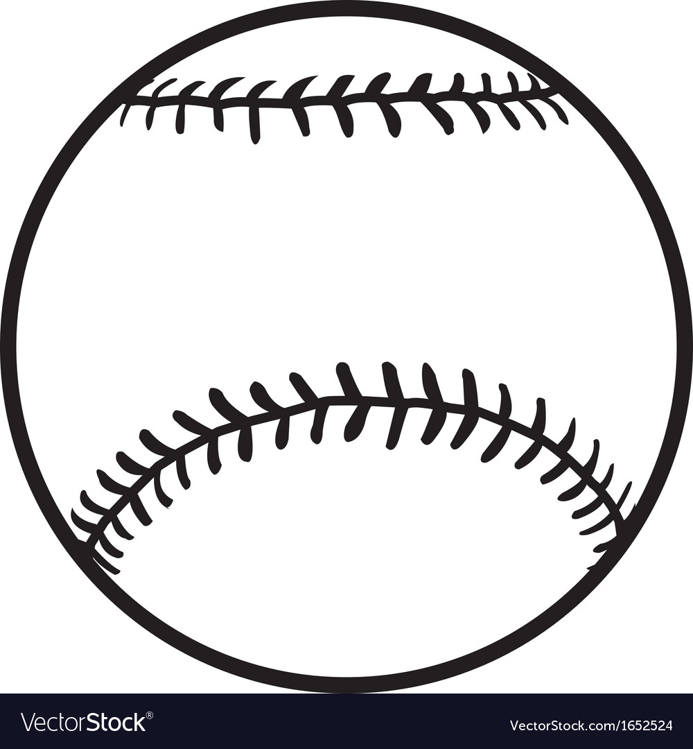 Softball Logo Design Vector Black And White