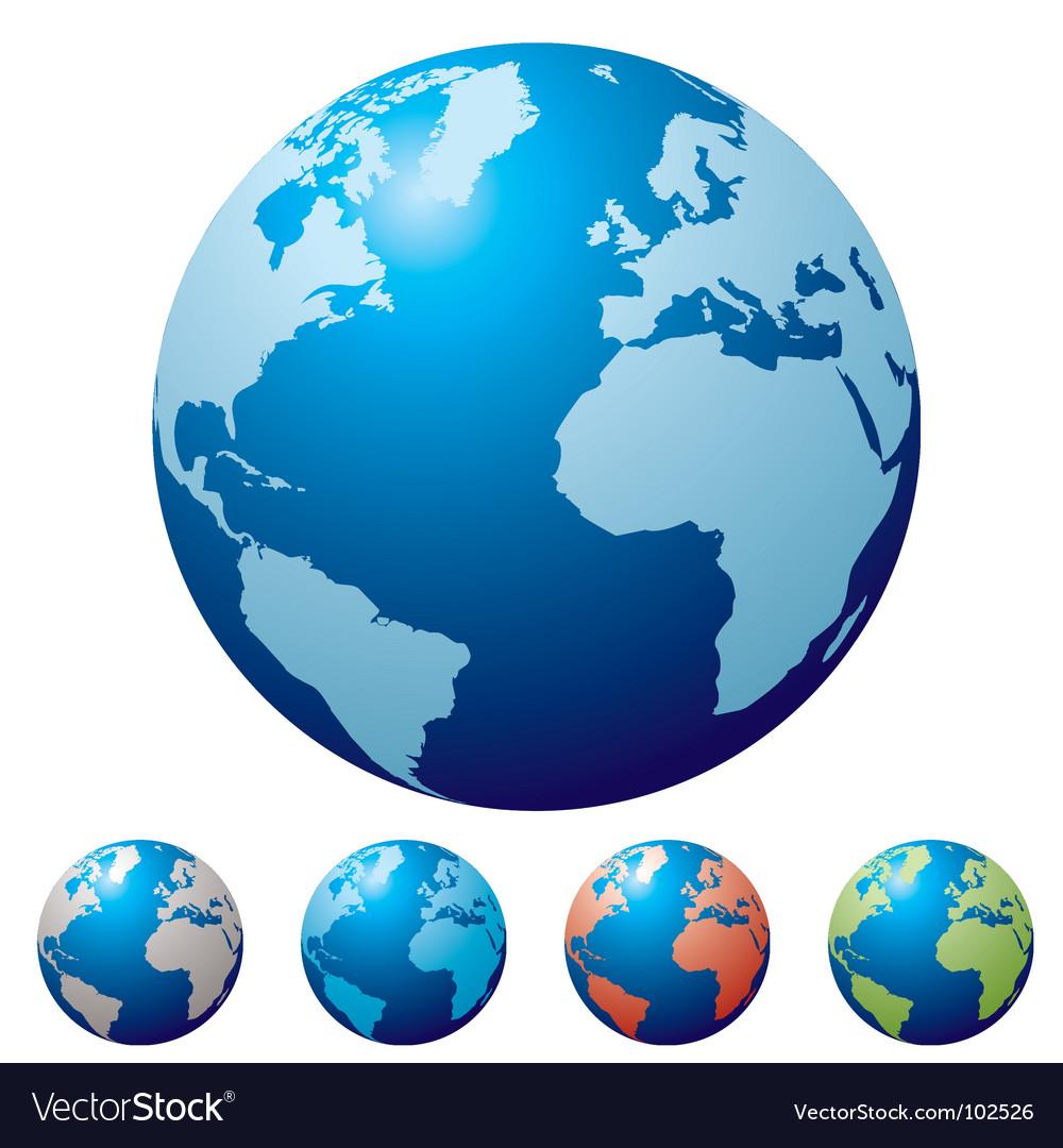 Multi globe vector image
