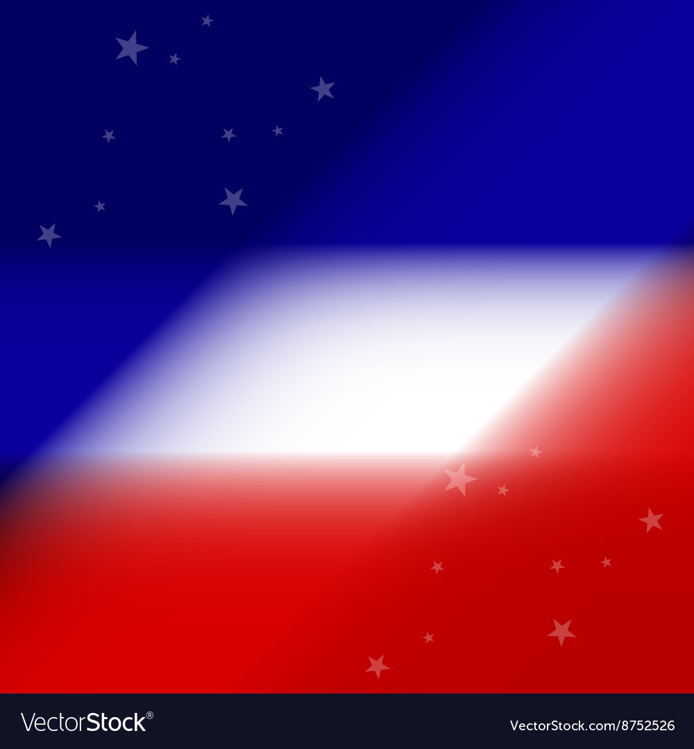 Stars on a white red blue background vector image
