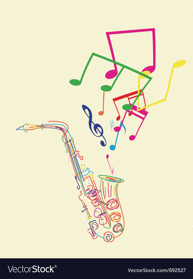 Saxophone musical Vector Image