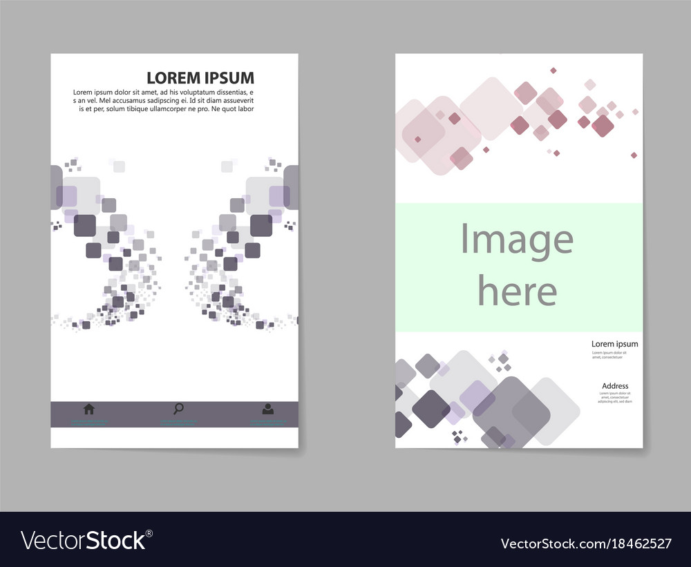 Business set brochure template layout cover
