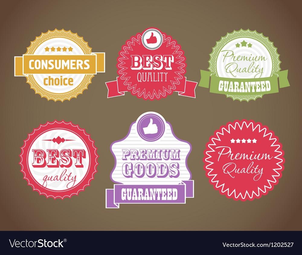 Vintage discount labels set vector image