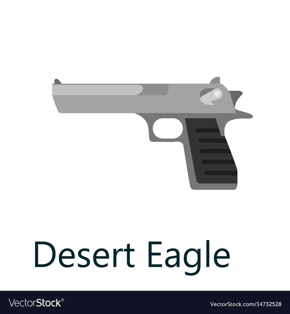 Desert eagle pistol gun military handgun weapon vector image