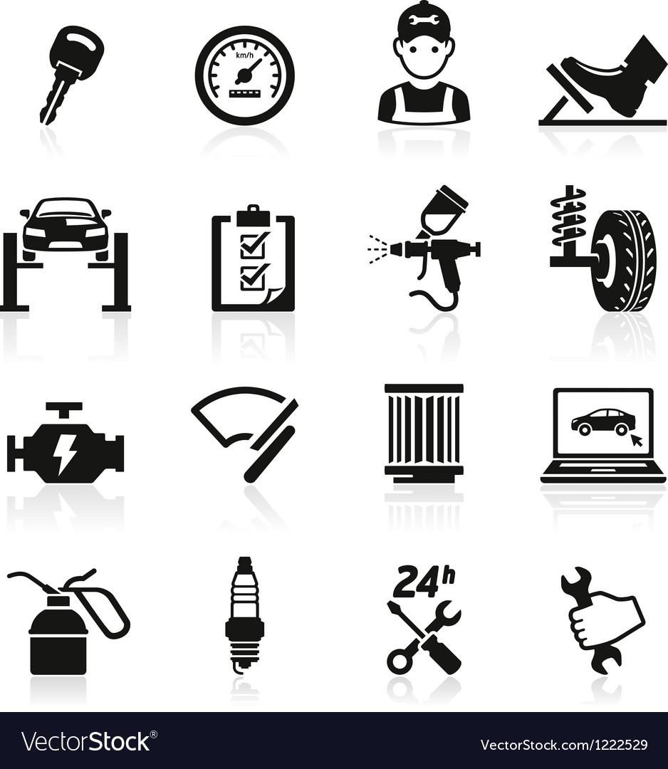 Car service maintenance icon vector image