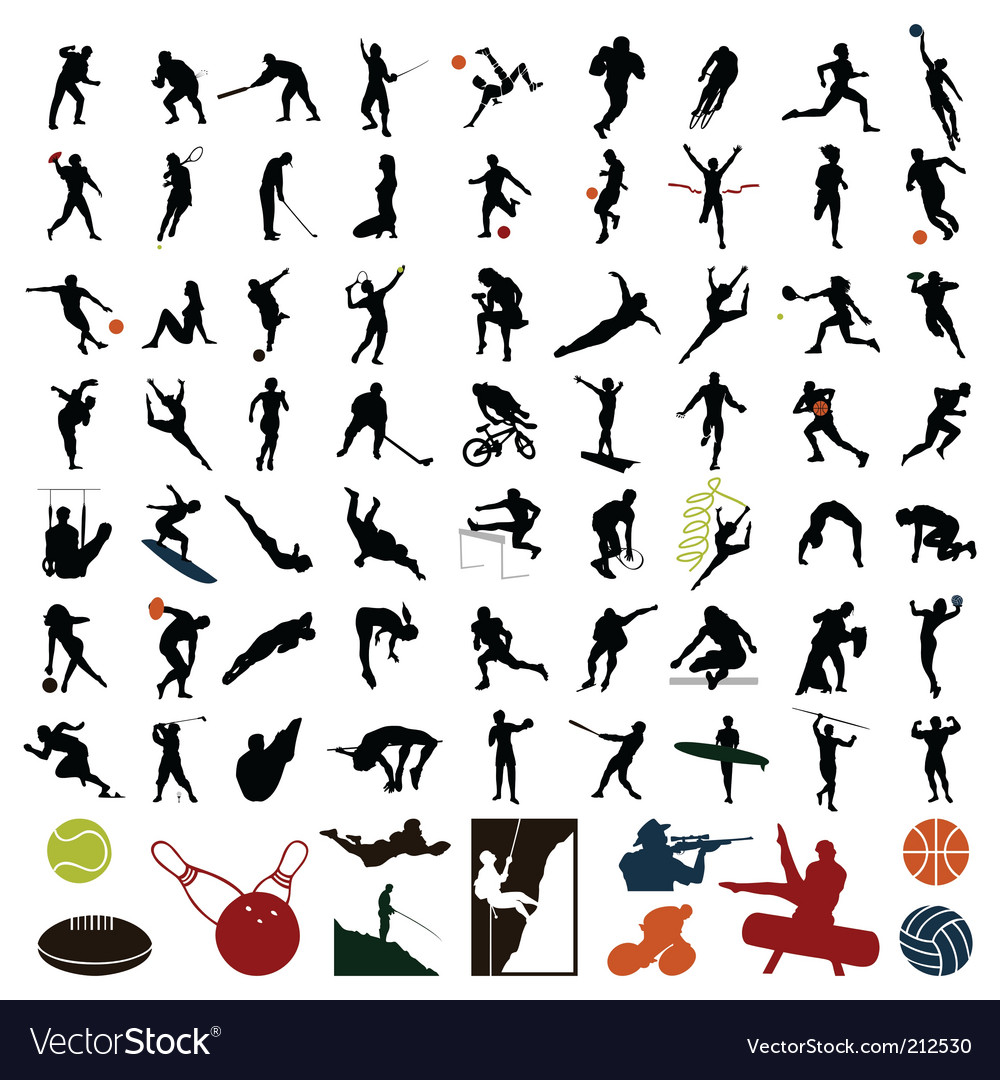 Sports people Vector Image