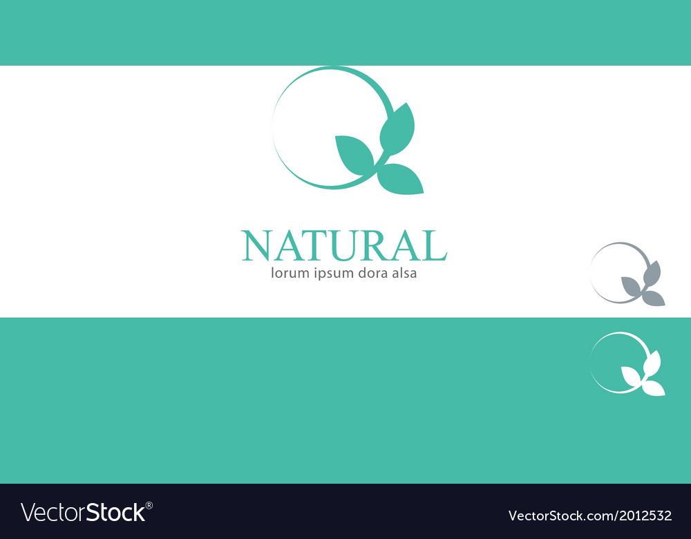 Wellness Mint Menthol Leaves Logo Concept Design vector image