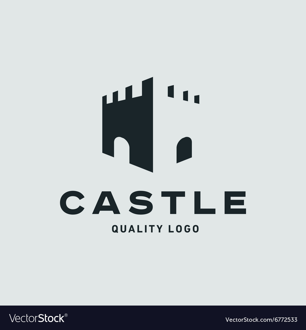 Abstract castle fortress trending flat quality vector image