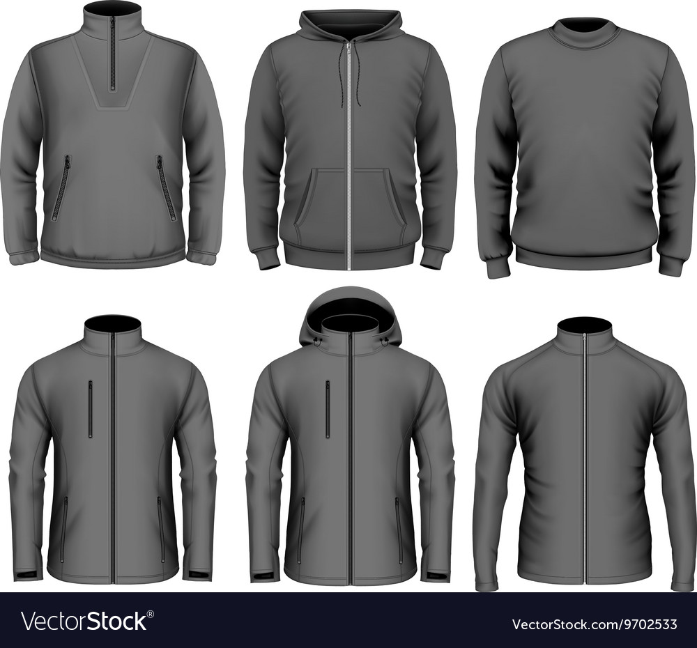 Collection of men clothes vector image