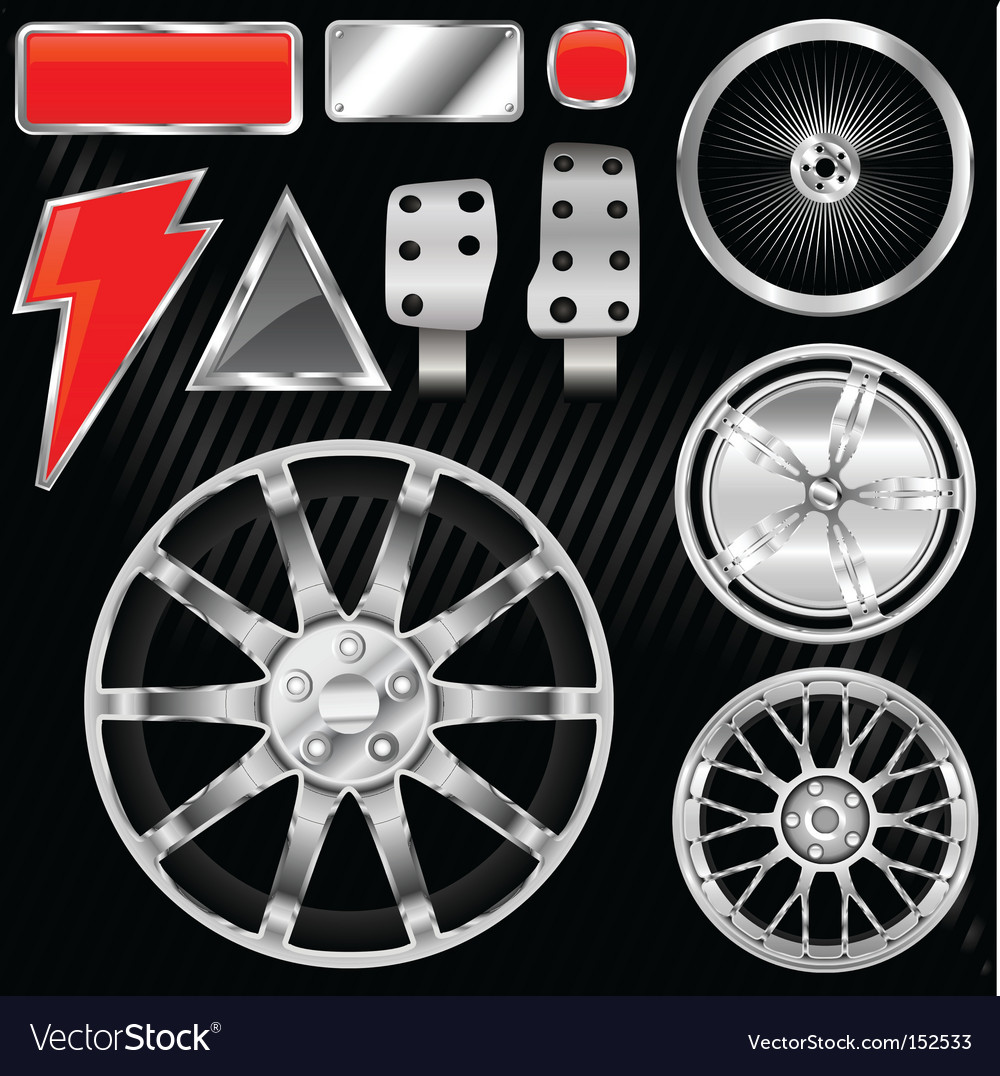 Sport car equipments vector image
