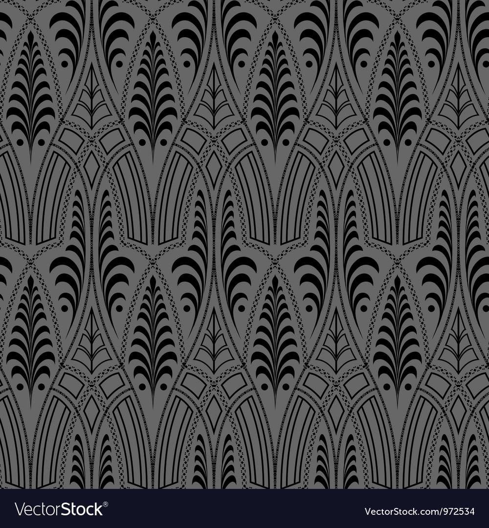 Seamless black wallpaper pattern Vector Image