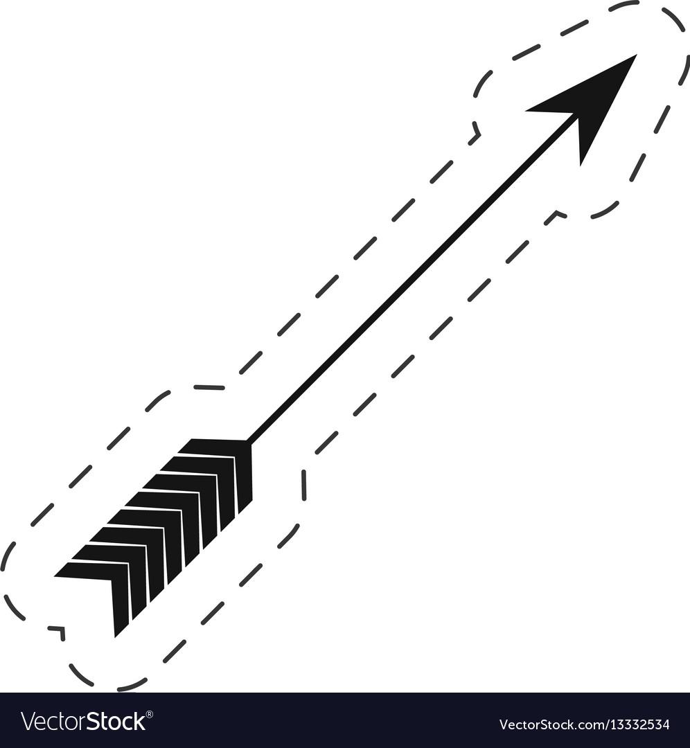 Arrow love symbol thin line vector image