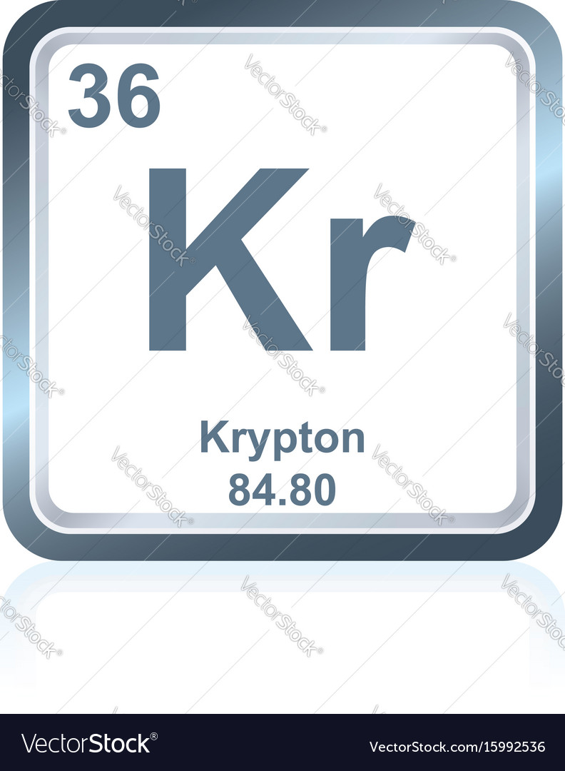 Chemical element krypton from the periodic table vector image chemical element krypton from the periodic table vector image buycottarizona