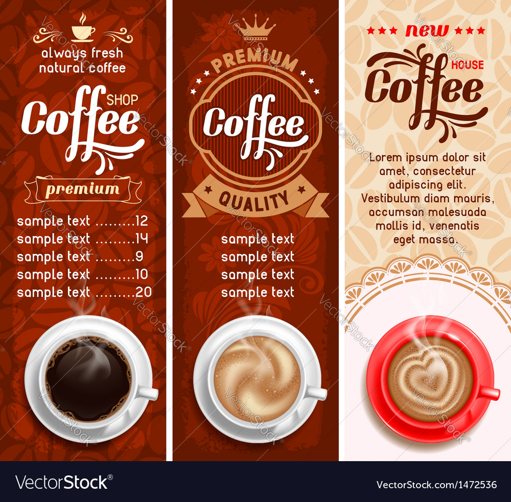 Coffee vector image