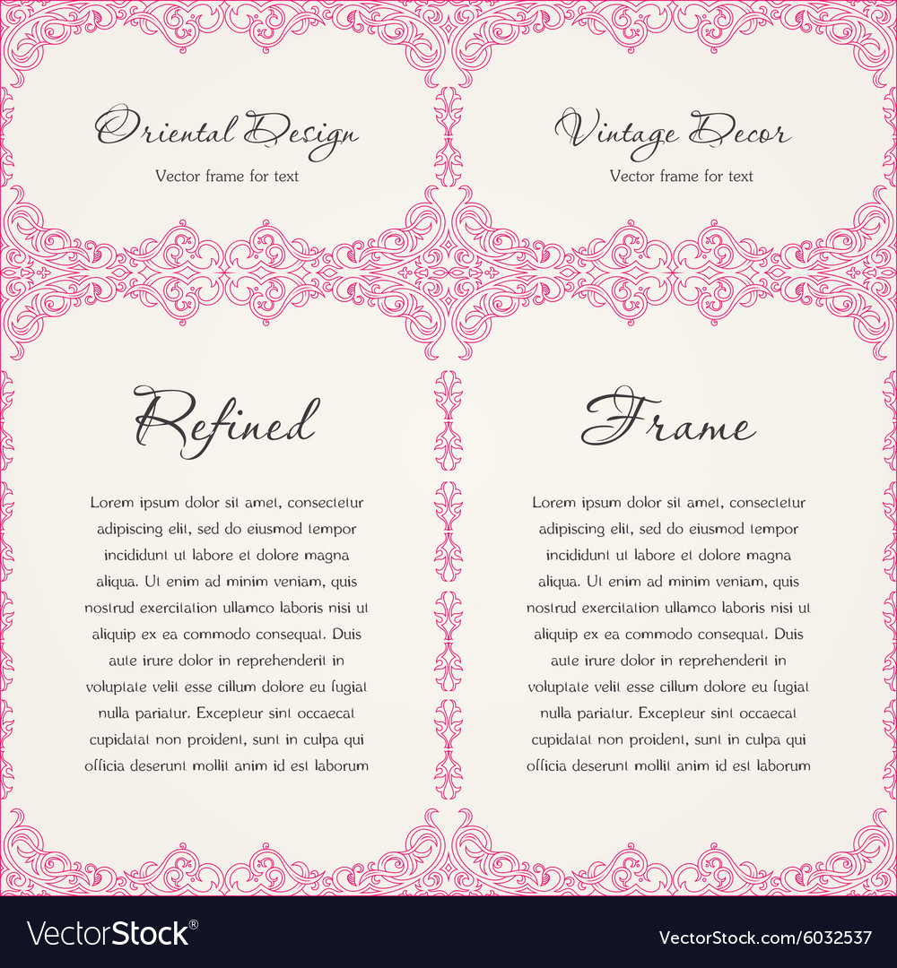 Background invitation vintage label floral frame vector image stopboris Image collections