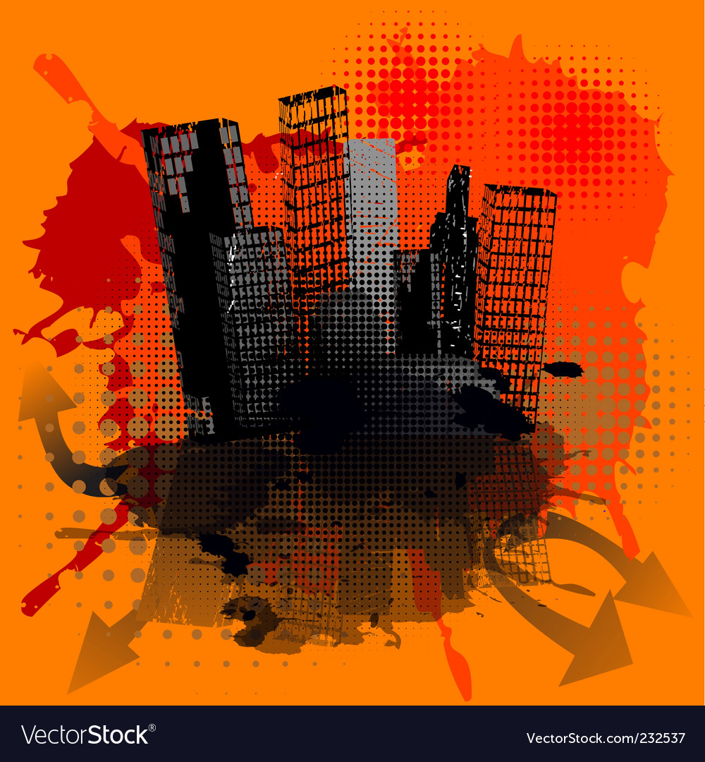 Grunge urban concept vector image