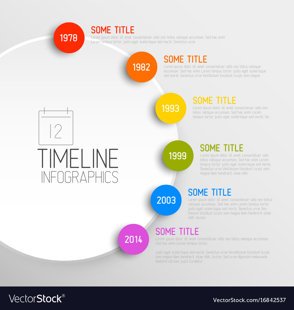 Infographic timeline report template Royalty Free Vector