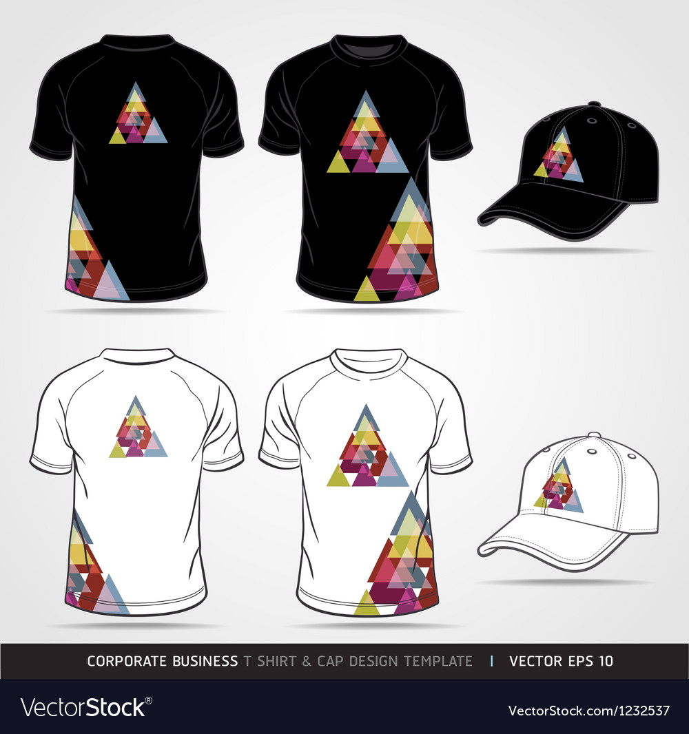 T shirt and cap design template vector image
