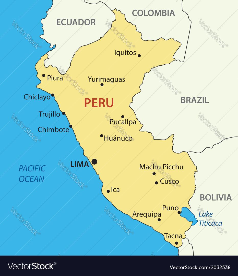 Republic of Peru map Royalty Free Vector Image