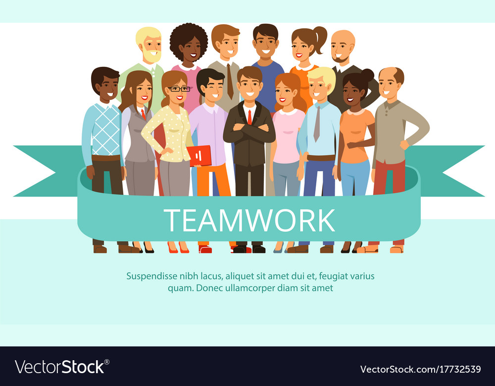 Social group on the work office people in casual vector image