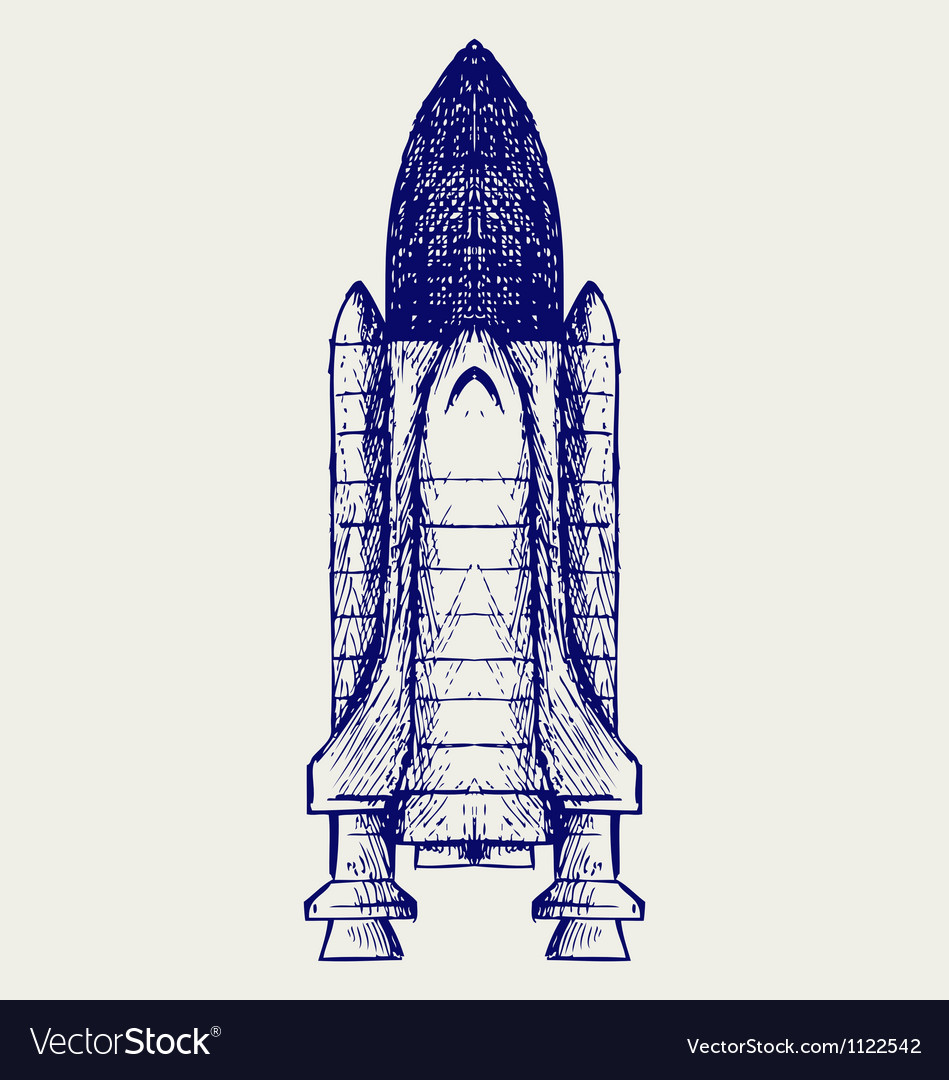 Space ship vector image