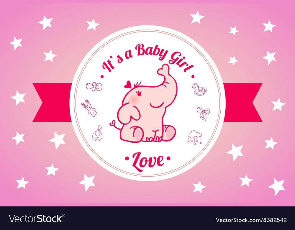 Sweet Baby Shower Invitation Card Design vector image